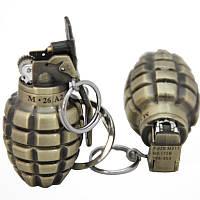Зажигалка - граната -маленькая 4.5х2.5  - метталического цвета