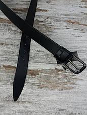 Якісний шкіряний чоловічий джинсовий ремінь чорний 40 мм, міцний оригінальний модний ремінь All, фото 2
