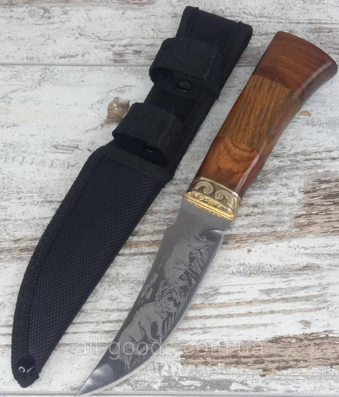 Охотничий нож COLUNBIA 22,5СМ / 742. Нож для охоты, рыбалки и туризма. Нож для выживания в чехле. All
