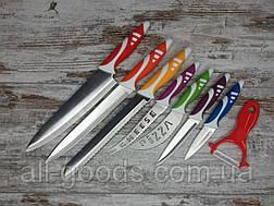Набір кухонних ножів Professional Chef Set з 8 предметів з овощечисткой, ножі для кухні кухарські All, фото 2