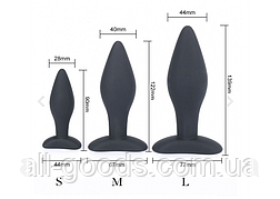 Комплект анальных пробок Женские анальные пробки Набор анальных пробок Маленькая анальная пробка(3 шт) All, фото 2