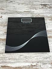Напольные стеклянные весы Domotec MS-1604 на 180 кг квадратные Бытовые домашние электронные весы для тела All, фото 3