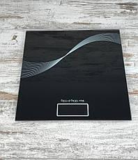Напольные стеклянные весы Domotec MS-1604 на 180 кг квадратные Бытовые домашние электронные весы для тела All, фото 2