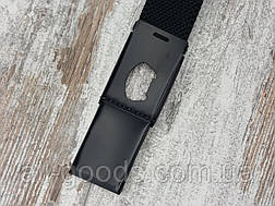 Ремень джинсовый резинка с пряжкой зажим 40 мм черный, оригинальный модный текстильный ремень All, фото 3