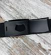 Ремень джинсовый резинка с пряжкой зажим 40 мм черный, оригинальный модный текстильный ремень All, фото 4