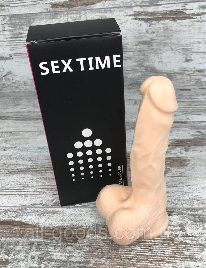 Фалоімітатор Реалістичний силіконовий фалоімітатор дилдо Фаллоимитатор на присоске Секс іграшка 17х4 All