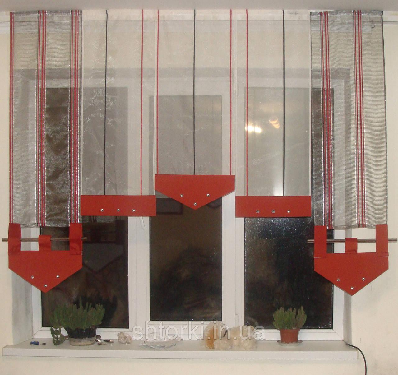 Японские панельки красно-черные полосатые