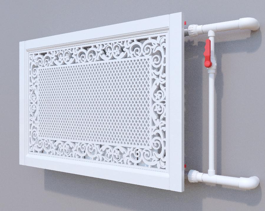 Декоративна решітка на батарею SMARTWOOD | Екран для радіатора | Накладка на батарею 600*600
