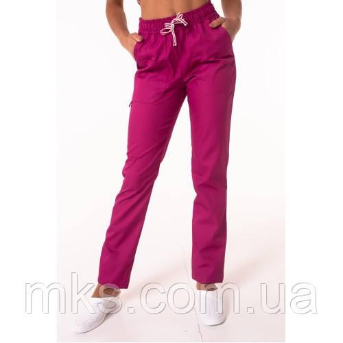 Медичні штани прямі Фуксія
