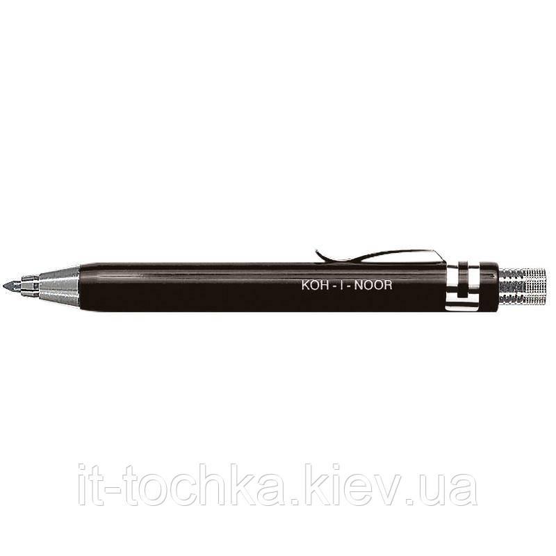 Цанговий олівець koh-i-noor 5358b чорний 3.2 мм металевий корпус