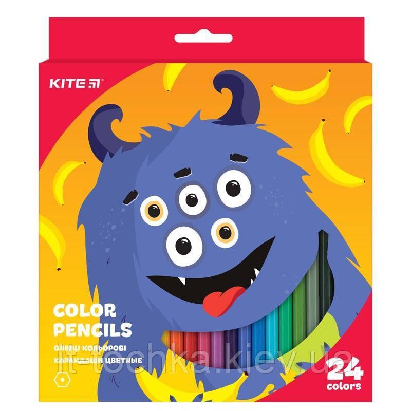 Кольорові шестигранні олівці kite к19-055-5 jolliers 24 штук