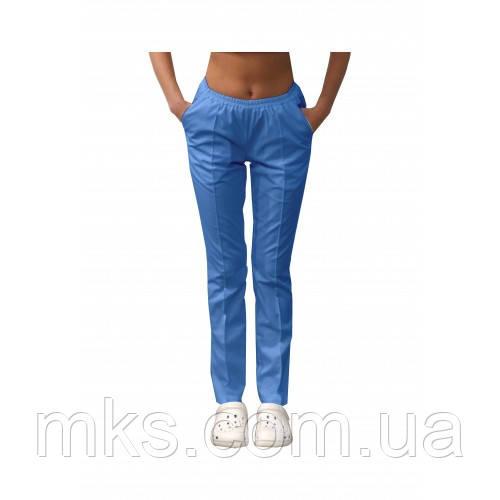 Медичні штани з кишенями жіночі Блакитний
