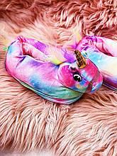 Тапочки-игрушки Кигуруми Единорог Искорка M (Размер 35-39)