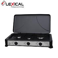 Газовая плита таганок LEXICAL LGS-2813-2 настольная на 3 конфорки Лучшее качество