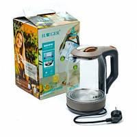 Електричний чайник HAEGER HG-7839, LED підсвічування, 2000Вт, 2л Кращу якість