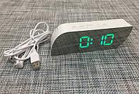 Зеркальные электронные настольные часы 018 Лучшее качество