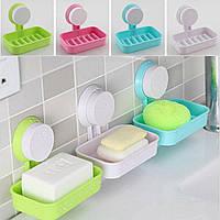 Органайзер-полиця для ванної, мильниця на присоску (WO-17) Краща якість