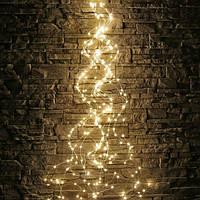 Звисаюча гірлянда (Кінський Хвіст) або Промені Роси,10 ниток, 2м тепло-білий,200 Led Кращу якість