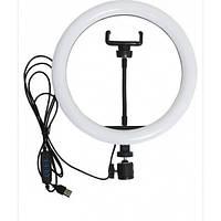 Кольцевая LED лампа LC-666 , 1 крепление телефона, USB (26см) Лучшее качество