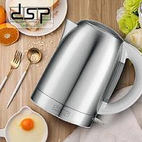 Електрочайник металевий DSP KK1114 2200W 1.7 L Кращу якість