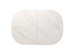 Стіл обідній TML-866 білий мармур, кераміка, розкладний, фото 3