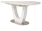 Стіл обідній TML-866 білий мармур, кераміка, розкладний, фото 7