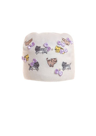 "Красочная, весенняя шапочка для девочки ""Котики"", фото 2"