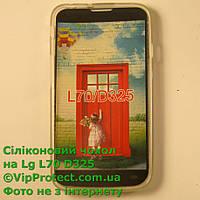 LG_D325_L70, белый силиконовый чехол, фото 1
