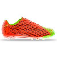 Бутсы футбольная обувь PABU PB805 44 Оранжевый-салатовый KB, КОД: 2579769