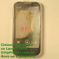 Lenovo A800, белый силиконовый чехол, фото 1
