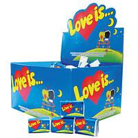 Блок жвачек Love is... Клубника-банан :)