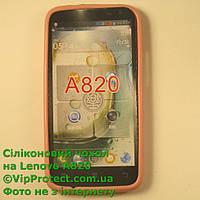 Lenovo A820, розовый силиконовый чехол