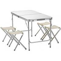 Стол для пикника с 4 стульями Kronos Folding table Белый gr009800 IX, КОД: 2628340
