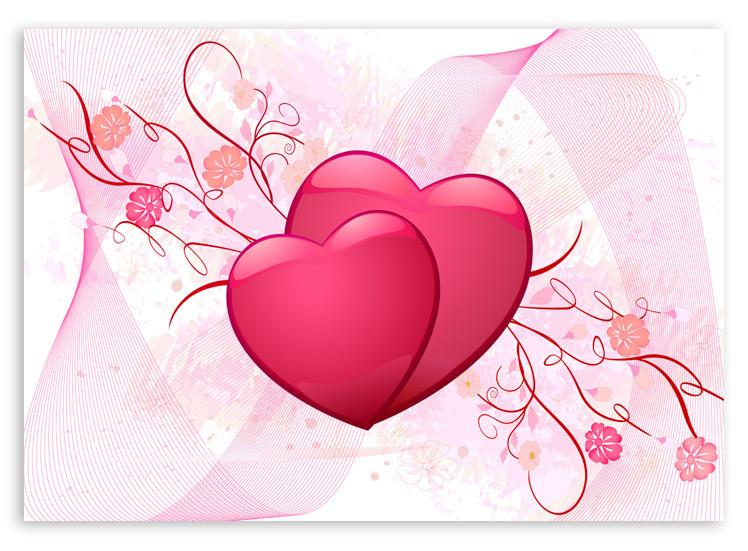 "Картина на стекле ""Два сердца"""
