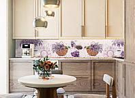 Наклейки кухонный фартук Zatarga Лаванда и кофе 650х2500 мм Фиолетовый Z180098 1 FG, КОД: 1833891