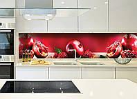 Наклейки кухонный фартук Zatarga Спелый гранат 600х2500 мм Красный Z180098 1 FG, КОД: 1836419