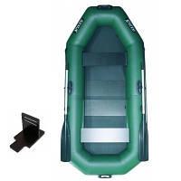 Надувная лодка Ладья ЛТ-250АЕСБТ двухместная гребная с веслами и передвижным сиденьем 2.49 м KB, КОД: 2611106
