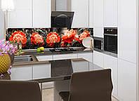 Наклейки кухонный фартук Zatarga Красные пионы 650х2500 мм Красный Z180098 1 PK, КОД: 1833887