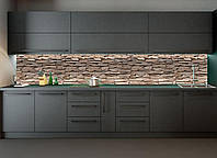 Наклейки кухонный фартук Zatarga Камень 600х2500 мм Коричневый Z180098 1 TS, КОД: 1833101