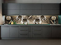 Наклейки кухонный фартук Zatarga Кофе с сахаром 650 х 2500 мм Темно-серый Z180098 1 TS, КОД: 1833871