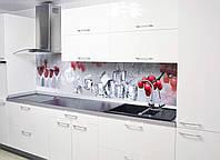 Наклейки кухонный фартук Zatarga Рябина и лед 650х2500 мм Красный Z180098 1 OB, КОД: 1833874