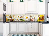 Наклейки кухонный фартук Zatarga Нежные ромашки 650х2500 мм Желтый Z180145 1 OB, КОД: 1833909