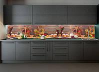 Наклейки кухонный фартук Zatarga Осенний урожай 600х2500 мм Разные цвета Z180188 OB, КОД: 1836401