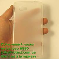 Lenovo A880, белый силиконовый чехол, фото 1