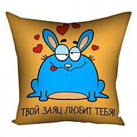 Подушка с принтом PPillow Твой заяц любит тебя 108768L CS, КОД: 2543069
