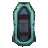 Надувная лодка Ладья ЛТ-270ЕС двухместная гребная с веслами и передвижным сиденьем 2.7 м слан OB, КОД: 2611097