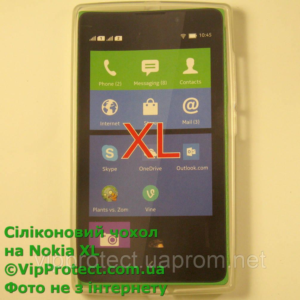 Nokia_XL, белый_силиконовый чохол
