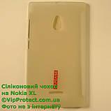 Nokia_XL, белый_силиконовый чохол, фото 2
