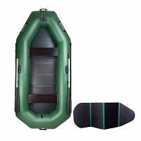 Надувная лодка Ладья ЛТ-310В трехместная гребная с веслами и сиденьями 3.1 м слань-книжка lad PK, КОД: 2611241