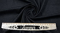 Ткань джерси на флисе цвет графитовый (темно-серый)